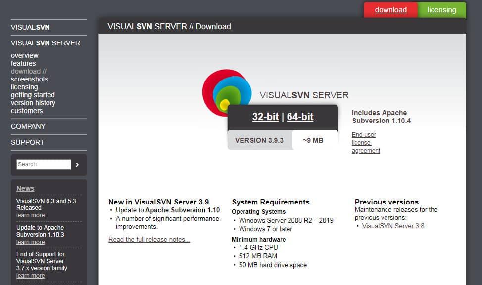 VisualSVN Server 01