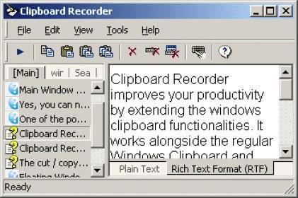 clipboard recorder screenshot